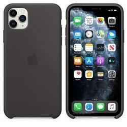 Apple Silicone Case - Silikonowe etui iPhone 11 Pro Max (czarny)