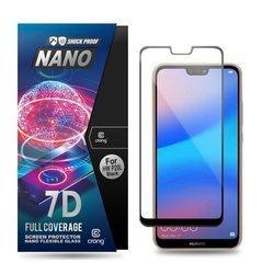 Crong 7D Nano Flexible Glass - Szkło hybrydowe 9H na cały ekran Huawei P20 Lite