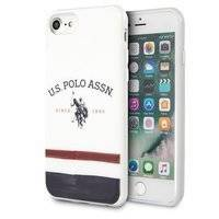 US Polo USHCI8PCSTRB iPhone 7/8/SE 2020 biały/white Tricolor Pattern Collection