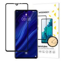 Wozinsky super wytrzymałe szkło hartowane Full Glue na cały ekran z ramką Case Friendly Huawei P30 czarny