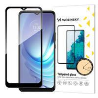 Wozinsky super wytrzymałe szkło hartowane Full Glue na cały ekran z ramką Case Friendly Motorola Moto G50 czarny